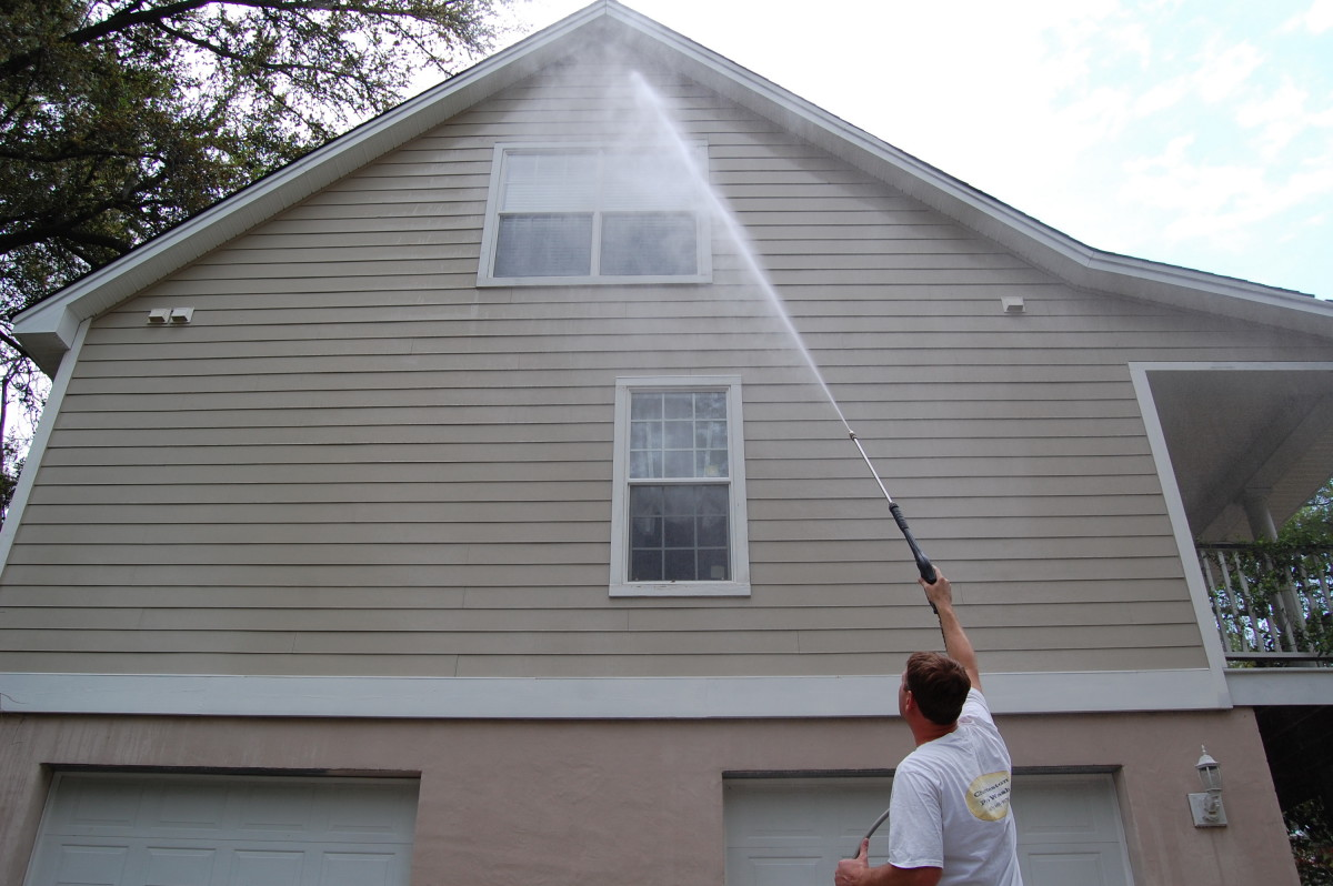 How To Safely Pressure Wash Above Two Stories